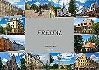 Freital Impressionen (Wandkalender 2022 DIN A2 quer): Zu Besuch in der grossen Kreisstadt Freital (Monatskalender, 14 Seiten )