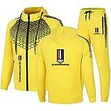 BOYASI Herren Sportswear Anzug CaM_Aro LOGO Kapuzenjacke und Sporthose, Outdoor Casual Zip Cardigan...