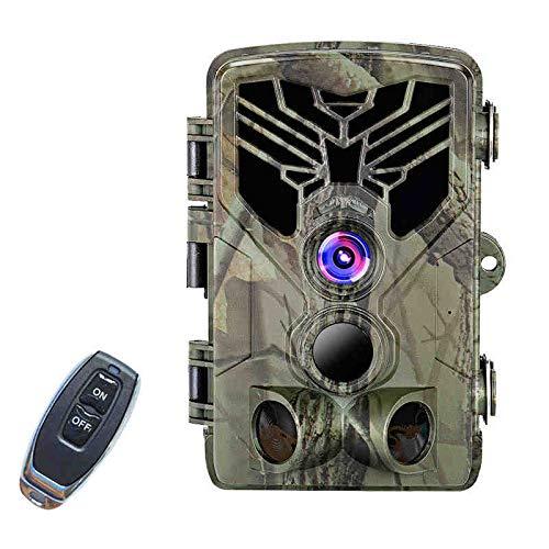 LZCHA Wildkamera Fotofalle 21MP 1080P HD Jagdkamera Nachtsicht Bewegungsmelder IP66 Wasserdichter& Staubdicht 3-Zonen-Infrarotsensor 125 °Weitwinkel Nachtsichtkamera mit with