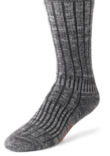 Wigwam Men's Merino/Silk Hiker Heavyweight Crew Socks, Charcoal, Large