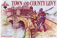 レッドボックスFigures War of the Roses : Town and Country Levy (40-piece) (1/ 72-scale)