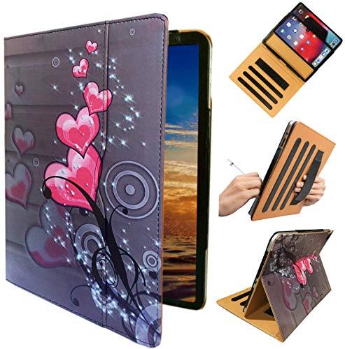 Funda para iPad Air de 9,7 pulgadas, modelo A1474 A1475 A1476, color Heart Flower Design For 9.7 '' 2018 / 2017/ Air 1st / Air 2nd