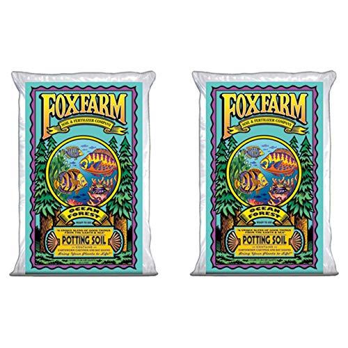 Fox Farm FoxFarmOcean2 Foxfarm FX14000 1.5 Ocean Forest Garden Potting Soil Bags 6.3-6.8 pH | Total 3 Cubic Ft, Brown