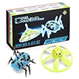 Strike Laser Tag Nano Bug Spider & Flying UFO Drone Deluxe Box Set - For Use With All Strike Lazer Guns