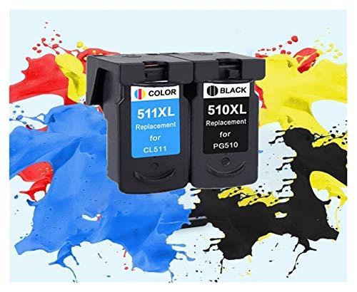 ZITENG CGBH Reemplazo PG510 CL511 Cartucho de Tinta aplicable for Canon PG 510 PG-510XL CL 511XL for MP240 MP250 MP260 MP280 MP480 MP490 IP2700MP499 (Color : 1Black 1Color)