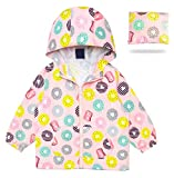 MORCOE Toddler Girls' Outdoor Travel Jackets Lightweight Quick-Dry Packable Zipper Hooded Casual Outerwear Kids Coat(Pink,2-3Y)