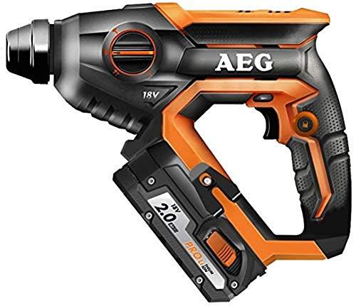 AEG 4935464985 BBH18C LI-202C - Martillo combinado (18 V, portaherramientas, control de velocidad y de impacto, 2 baterías de 2 Ah, cargador)
