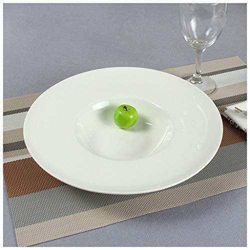CJW Bol rond blanc herbe - bol à soupe en céramique 11 pouces