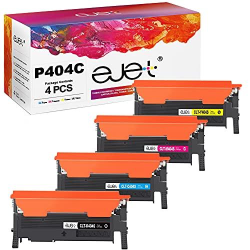 ejet Compatibile Cartucce di Toner Sostituzione per Samsung CLT 404S P404C per Xpress SL C480W C430 C430W C480 C480FN C480FW C482W (1 Nero/1 Ciano/1 Magenta/1 Giallo, 4-Pack)