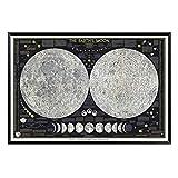 Terra lua cartaz do vintage eclipse parede fotos para sala de estar decoração maison arte da parede retro a terra pintura freeshipping-30x45cm