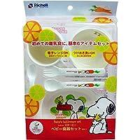 【美浜通商】リッチェル スヌーピー ベビー食器セット SY-1