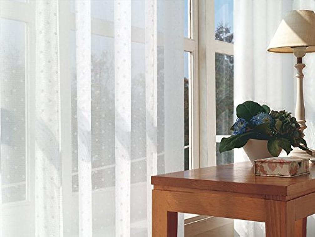 バンドルジュース発見する東リ 可愛らしくあしらった小さなドット カーテン1.5倍ヒダ KSA60487 幅:250cm ×丈:230cm (2枚組)オーダーカーテン