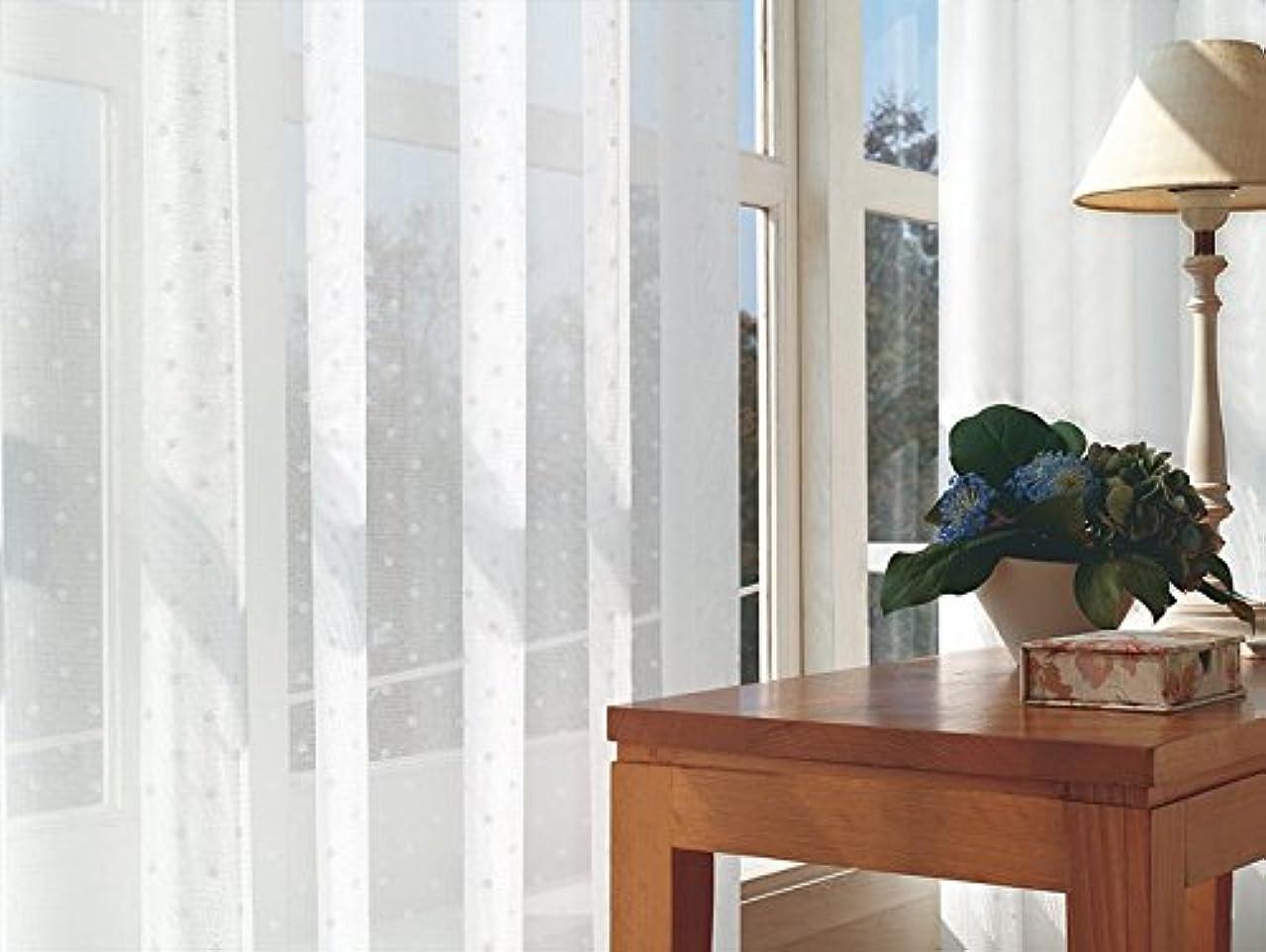 言い訳購入唯物論東リ 可愛らしくあしらった小さなドット カーテン1.5倍ヒダ KSA60487 幅:200cm ×丈:270cm (2枚組)オーダーカーテン