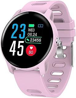 NANE Reloj Inteligente, Impermeable IP68, con Múltiples Modos de Deporte, Pulsera Inteligente, con Pulsómetro, Blood Pressure, Sueño, GPS, Podómetro, Reloj Hombre para Android y iOS,Rosado