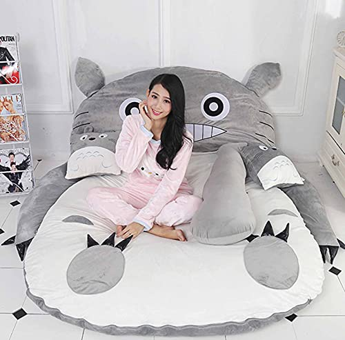 FBRNYQPM Totoro Colchón de Tatami Plegable Totoro Colchoneta para Cama Espesar Tatami Colchoneta Ideal para Dormitorio o Dormitorio, Colchón Totoro Individual Doble Tatami,002,120 * 80
