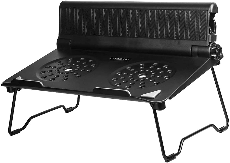LXYFMS Simple Portable Notebook Desktop Heightening Bracket Office Comfortable Shelf Base Folding Black Computer Support Frame 30x23x11.5cm Folding Table