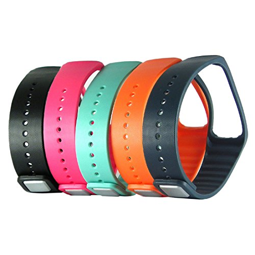Replacement Wrist Band Strap Wristband with Metal Clasp for Samsung Galaxy Gear Fit 1 R350 Bracelet Smart Watch ONLY - 5 Pack