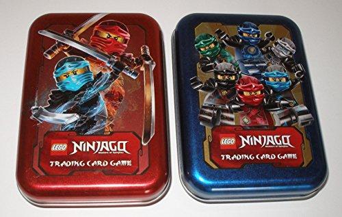 LEGO Ninjago Sammel Karten Box, Dose für Trading Cards in Blau und Rot