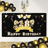 Banner Geburtstag 18 Jahre Geburtstag Party