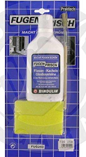 Fugenfrisch weiss 250 ml Set SB mit Reinigungsschwamm, Pinsel und Microfasertuch