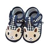 Zapatos de bebé, Bluestercool Invierno bebé niña niño Zapatos paño Suela Suave Infantil Zapatos Antideslizante Zapatos Bebe Primeros Pasos (11CM, Azul2)