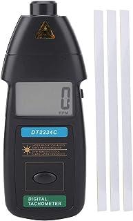 Schulzeit Digitaler Drehzahlmesser, DT2234C Digitaler Handdrehzahlmesser 2,5 99999 U/min Berührungslose Geschwindigkeitsanzeige