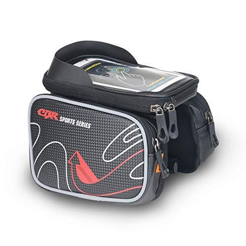 Sac de téléphone Portable détachable avec écran Tactile pour vélo de Montagne - Accessoires de Cyclisme Professionnels pour l'équitation-Confortable Feel-Rouge