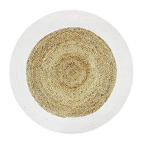Alfombra de 70 cm de diámetro, Color Blanco