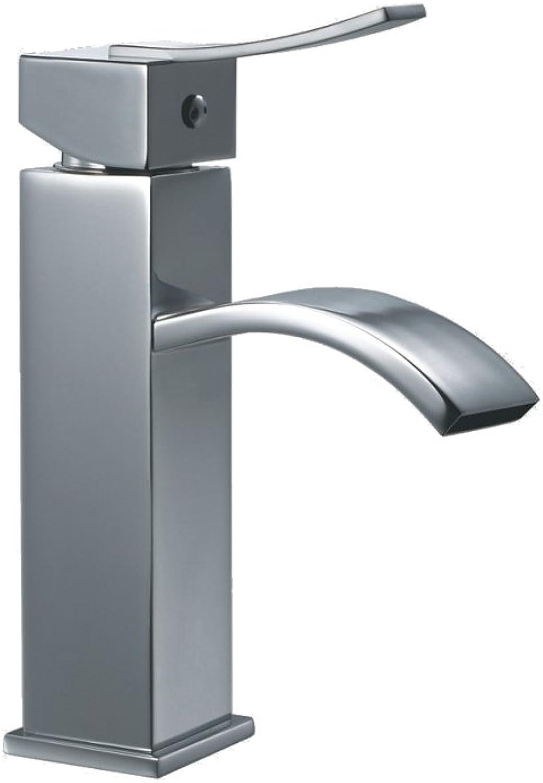 Dawn AB78 1258C Single-Lever Square Lavatory Faucet, Chrome