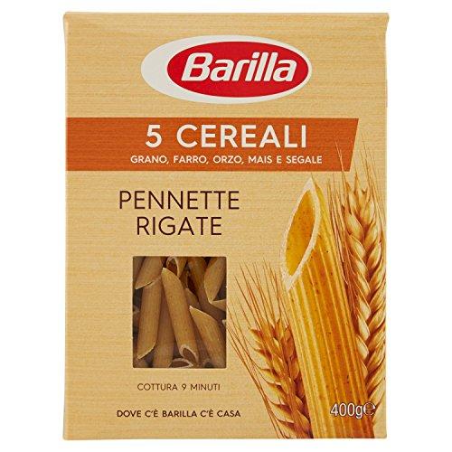 Barilla Pasta Penne Rigate 5 Cereali, Pasta Corta di Semola di Grano Duro, Orzo, Farro, Mais e Segale, 400 gr