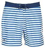 ARENA Bañador Tipo bóxer para Hombre, Hombre, Bañador de Playa, 003050, Azul Marino y Blanco, Large