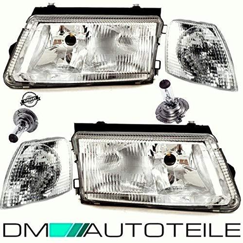 DM Autoteile Set Passat 3B 3B3 3B5 Scheinwerfer +Frontblinker Weiß H7/H4 +H7 Birnen 96-00