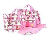 Kit de 5 sacs à langer pour bébé - Laminés, étanches, isolés, thermiques - Pour...
