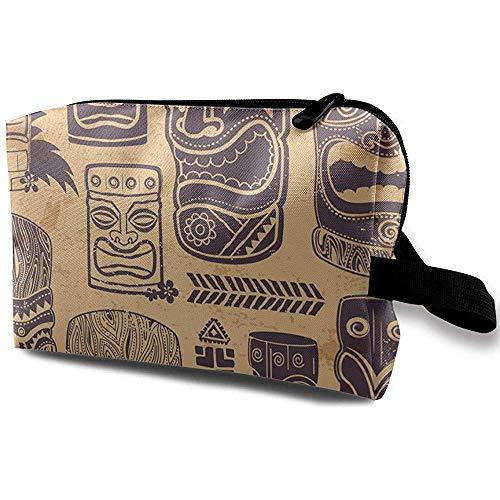 Voyage Cosmetic Bag Portable Sac À Main Gris Visages Trousse De Toilette Petit Maquillage Sacs Cas Organisateur