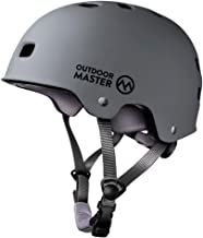 OutdoorMaster Skateboard Cycling Helmet - ASTM & CPSC Certified Two Removable Liners Ventilation Multi-Sport Scooter Rolle...