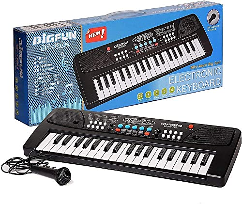 Vikrida Jugutoz Kids Piano Keyboard, 37 Keys Dual-Speakers Electronic Piano For Kids, Newest Piano Keyboards Musical Educational Toys Gifts-Plastic, Multi Color(Pack Of 1).