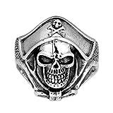 AeraVida Buccaneer Pirate Skull .925 Sterling Silver Ring (11)