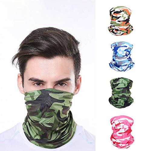 Sethain Halstuch Bandana Helm Gesichtsmaske Multifunktionale Sturmhaube Laufen Halstuch 4er Pack Kopfbedeckung UV-Schutz Camouflage Gesichtsschal
