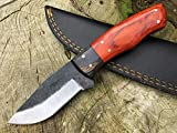 Perkin Cuchillo Supervivencia Dark Forest para Caza, Pesca, Camping, Outdoor, Supervivencia y Bushcraft PK666