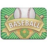 hooya Etiqueta de béisbol Cham-pion de béisbol Alfombrillas para Puertas de Interior y Exterior Garaje Patio Áreas de Alto tráfico Alfombras para Zapatos