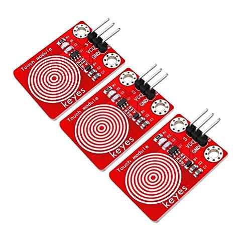 BXU-BG 1 botón del Sensor táctil capacitiva Canal Digital Jog Interruptor táctil 3pcs TTP223 Módulo de TTP223B for el Kit de Bricolaje