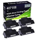 Paquete de 4 cartuchos de impresora compatibles de alto rendimiento 407166 para Ricoh Aficio SP100 SP100E SP100SU SP100SF SP112 SP112SU SP112SF