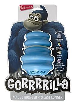 EUROPET Jouet pour Chien Gorrrrilla Classic Rubber Toy Extra Large Blue, 27kg