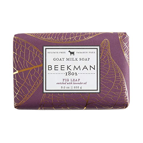 Beekman 1802 - Bar Soap - Fig Leaf - Moisturizing Triple Milled Soap with Goat Milk - Naturally Rich in Lactic Acid & Vitamins, Great for All Skin Types - Cruelty-Free Bodycare - 9 oz