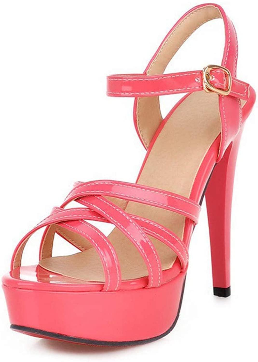 Women High Heels Sandals Summer Platform Ladies Cross Sexy Dress shoes Ankle Strap Party Sandals
