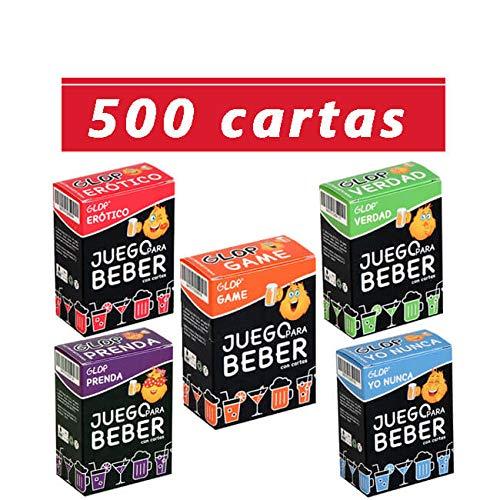 Glop 500 Cartas + App - Juegos para Beber - Juegos de Cartas