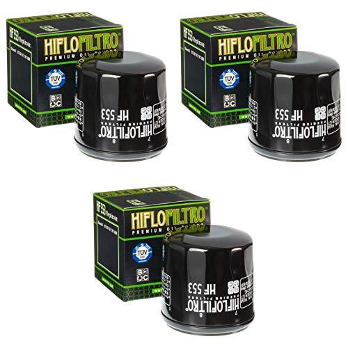3x Filtro de aceite Benelli Tornado 900 Tre 03-14 Hiflo HF553