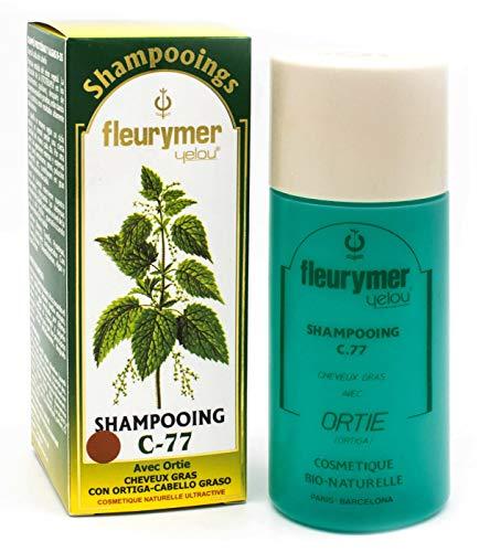 Fleurymer Champu AntiGrasa C-77 200ml Limpieza Suave y Profunda Tratamiento Seborrea Regulador de secreciones | Sin Parabenos Ingredientes Naturales |