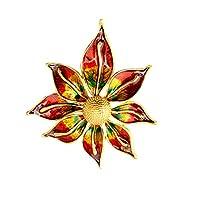 F Fityle 新しいファッションヴィンテージ女性カラフルな大きな花の合金ブローチピンギフトに私結婚式ブライダルブーケ