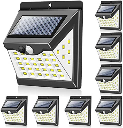 Solar Lights Outdoor 40 LED 3 Working Modes Towkka Wireless IP65 Waterproof Solar Lights with product image